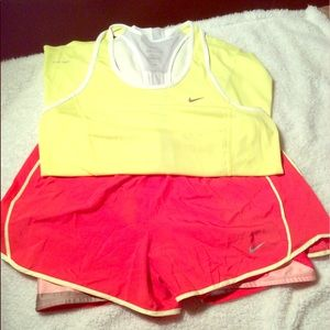 Nike dri fit shorts and top